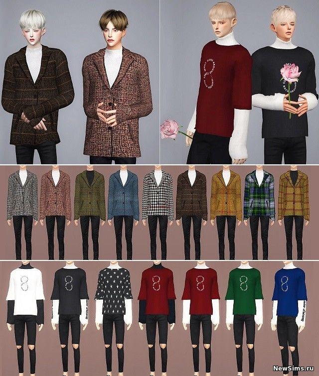Моды для Симс 4 на Мужскую Одежду