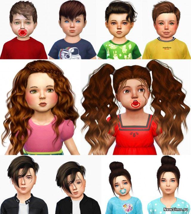 Скачать симс 4 причёски для детей