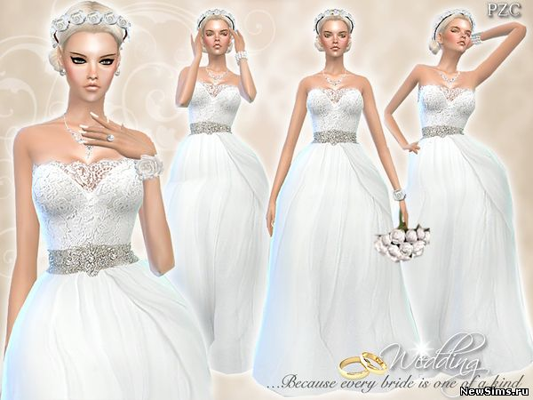 Моды на свадебное платье для симс 4