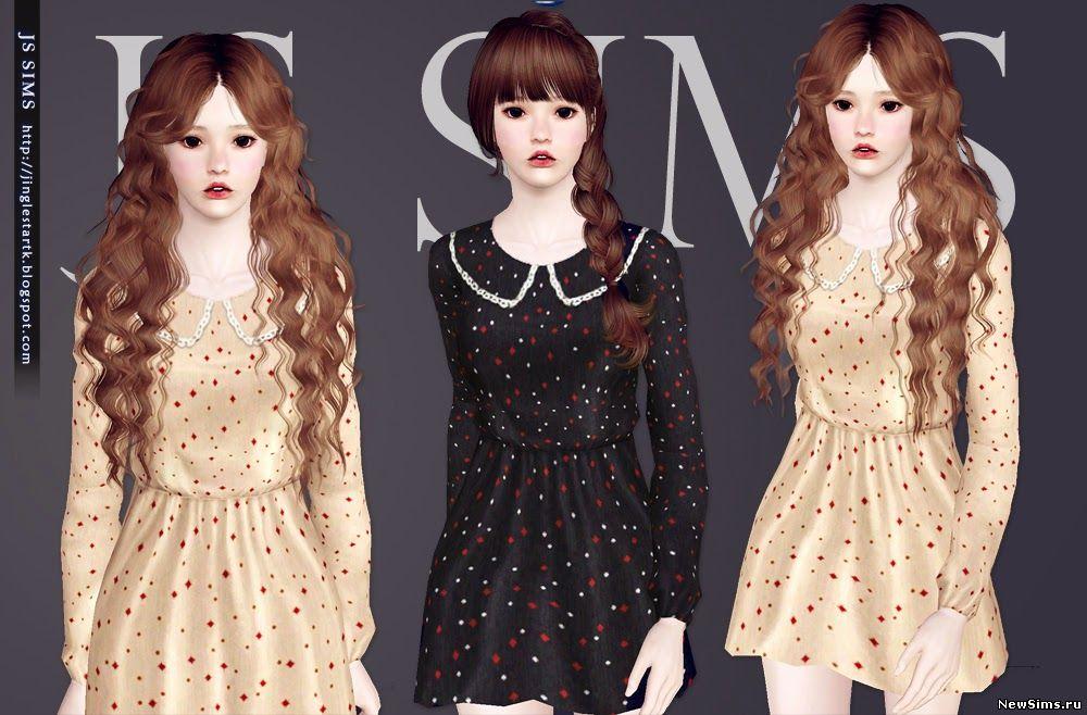 Женщины | Платья Lace_Collar_Dress_by_JS_Sims_3