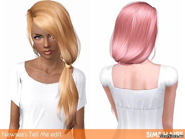 Женщины | Прически Newsea_J152_Tell_Me_hairstyle_mesh_edit_plus_retex
