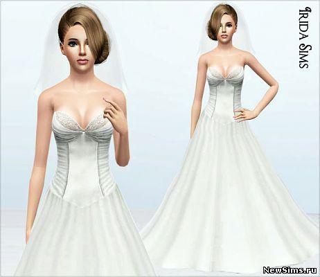 Свадебная фата симс 4