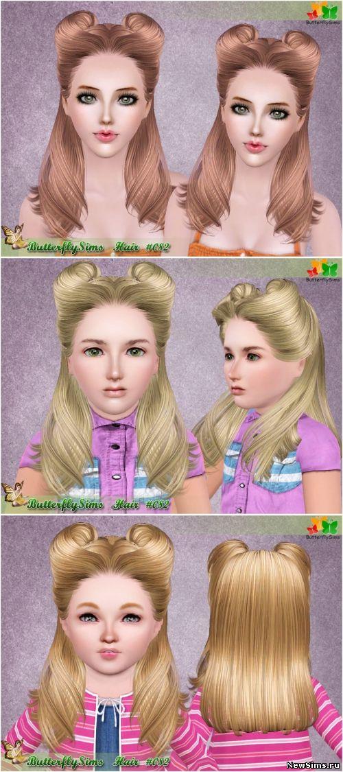 скачать моды на симс 4 на причёски для детей